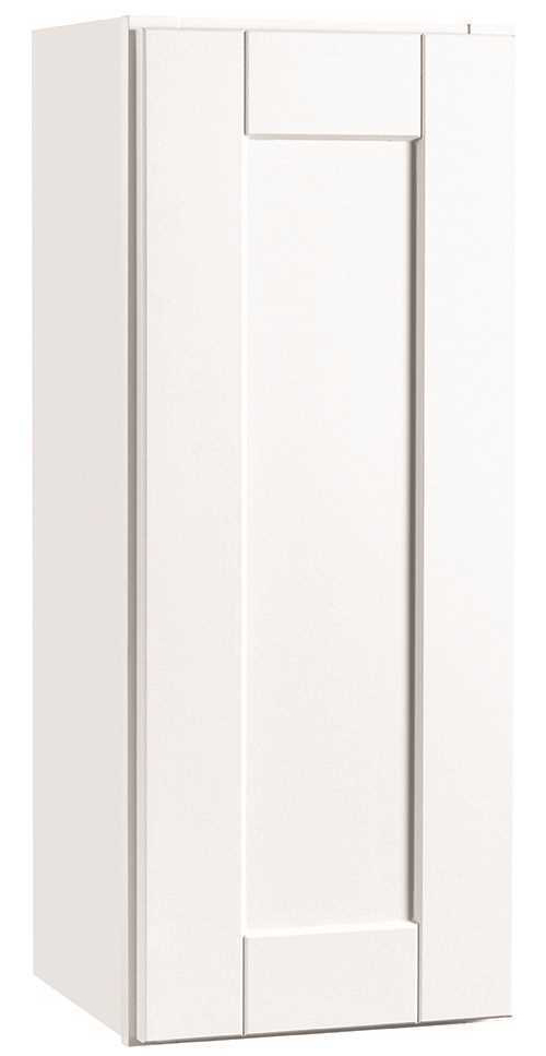 RSI HOME PRODUCTS ANDOVER SHAKER WALL CABINET, WHITE, 9X30 IN.