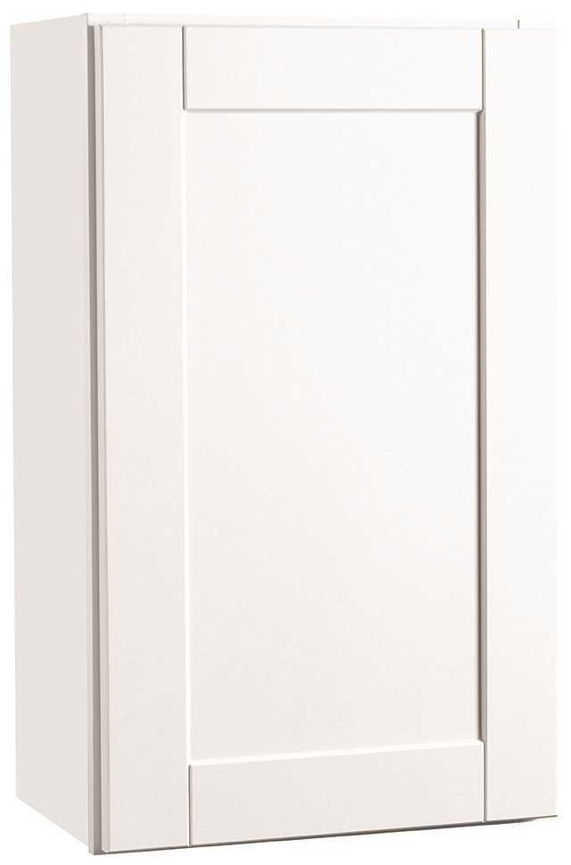RSI HOME PRODUCTS ANDOVER SHAKER WALL CABINET, WHITE, 18X30 IN.