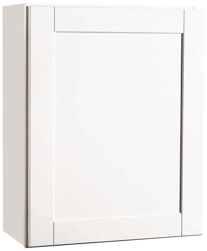 RSI HOME PRODUCTS ANDOVER SHAKER WALL CABINET, WHITE, 24X30 IN.