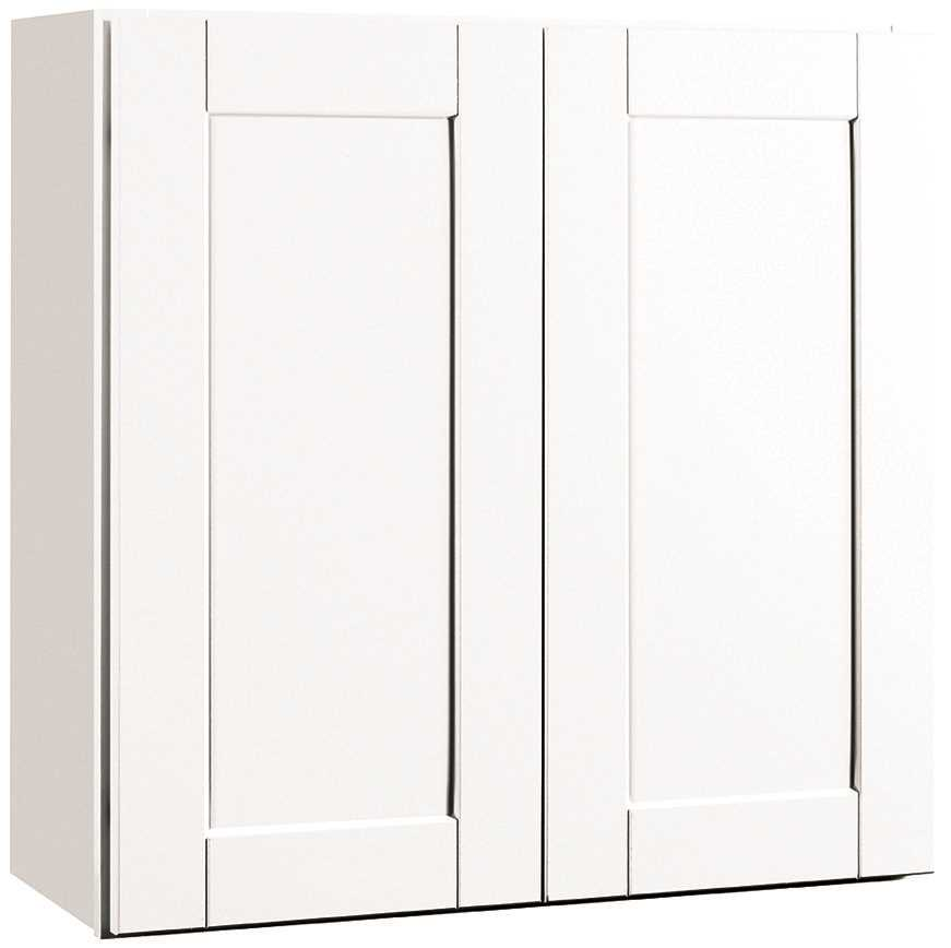 RSI HOME PRODUCTS ANDOVER SHAKER WALL CABINET, WHITE, 30X30 IN.