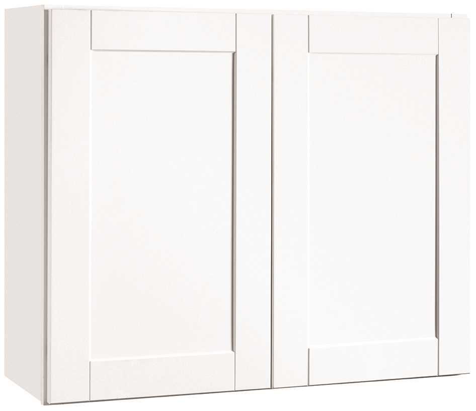 RSI HOME PRODUCTS ANDOVER SHAKER WALL CABINET, WHITE, 36X30 IN.