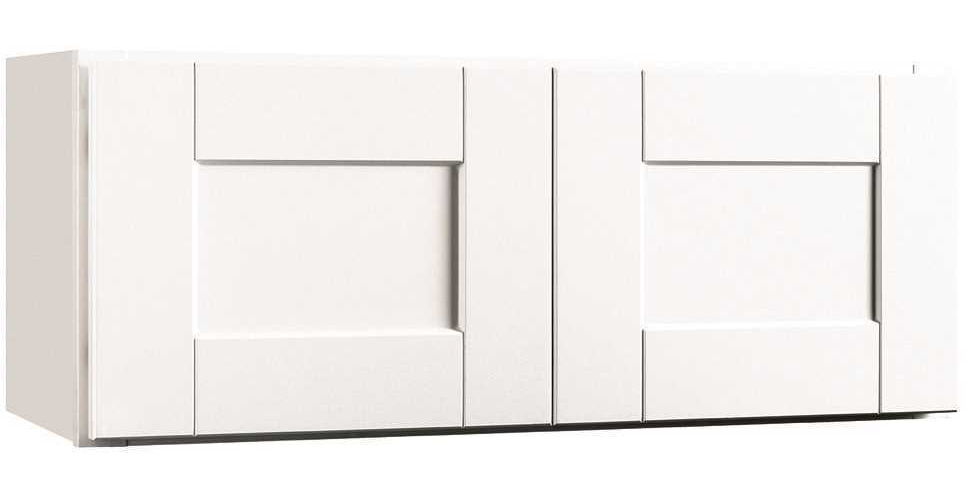 RSI HOME PRODUCTS ANDOVER SHAKER WALL BRIDGE CABINET, WHITE, 30X12 IN.