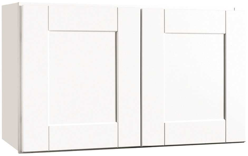 RSI HOME PRODUCTS ANDOVER SHAKER WALL BRIDGE CABINET, WHITE, 30X18 IN.