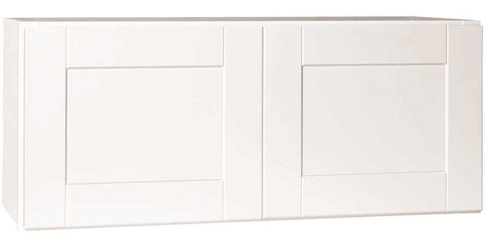 RSI HOME PRODUCTS ANDOVER SHAKER WALL BRIDGE CABINET, WHITE, 36X15 IN.