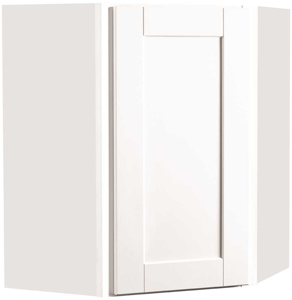 RSI HOME PRODUCTS ANDOVER SHAKER CORNER WALL CABINET, WHITE, 24X30 IN.