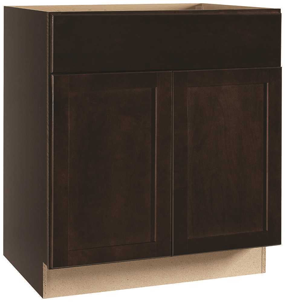 RSI HOME PRODUCTS ANDOVER SHAKER SINK BASE CABINET, JAVA, 30 IN.