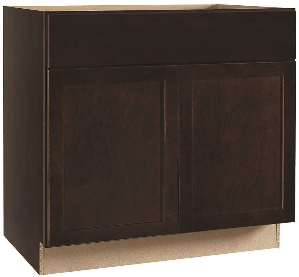 RSI HOME PRODUCTS ANDOVER SHAKER SINK BASE CABINET, JAVA, 36 IN.