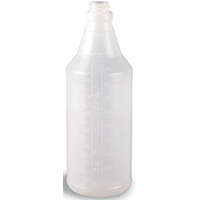 Continental 932CG Round Spray Bottle, 32 oz, HDPE, Translucent