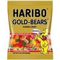 HARIBO GUMMI BEARS BAG 5OZ