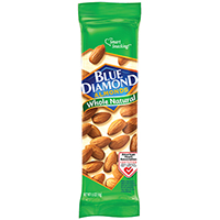 ALMONDS UNSALTED NATURAL 1.5OZ