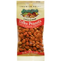 Snak Club SC21528 Premium Pack Peanuts, 7.5 oz, Butter Toffee