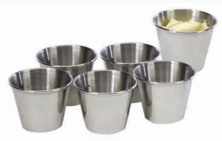 COOKPRO PRO353 STEEL SAUCE CUP 2.5OZ SET OF 6 MIRROR POLISH