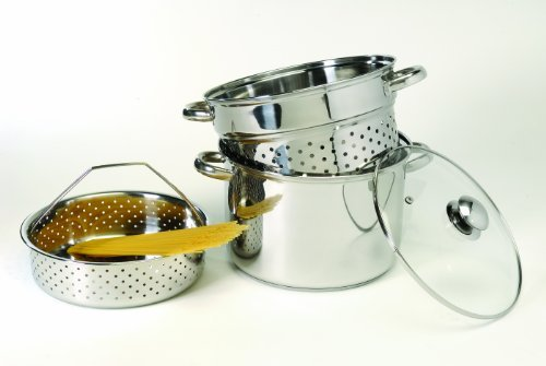 COOKPRO 528 STEEL PASTA COOKER 8 QUART 4 PIECE ENCAPSULATED