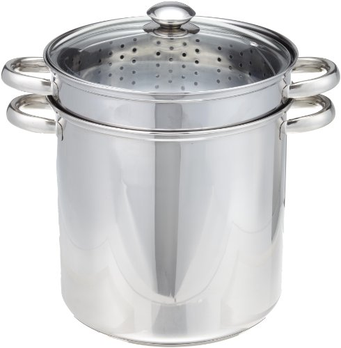 COOKPRO 529 STEEL PASTA COOKER 12QT 4PC ENCAPSULATED BASE