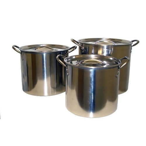 Cookpro 570 Steel Stockpots 8 Quart 12 Quart 16 Quart