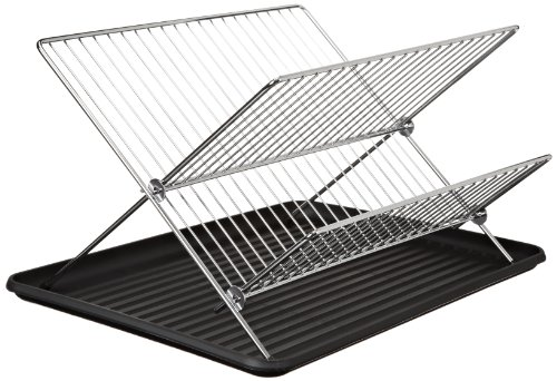COOKPRO 309 CHROME DISH RACK 2TIER STAND & PLASTIC DRAIN