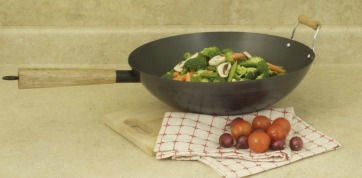 COOKPRO 511 PROFESSIONAL CARBON STEEL WOK 14 INCH WITH NON