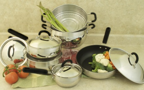 COOK PRO 554 BELLY SHAPED STAINLESS STEEL 10 PC COOKWARE SET