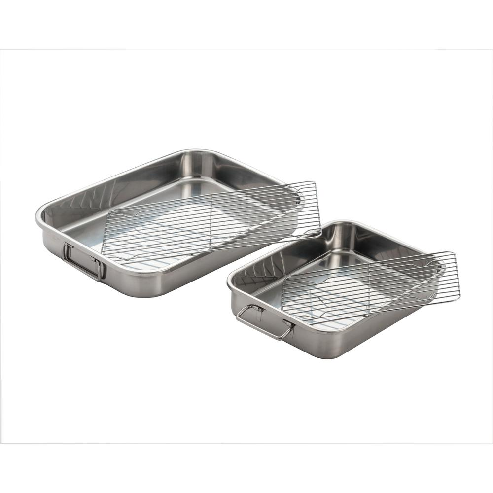 COOKPRO 561 STAINLESS STEEL ALL IN ONE 4 PC LASAGNA PAN SET