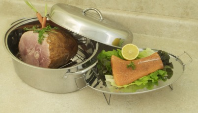 COOKPRO 574 STAINLESS STEEL 23LBS ROASTER 4 PC STAINLESS HIG