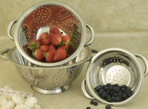 COOKPRO 731 3PC COLANDER SET STAINLESS STEEL INCLUDES 1QT