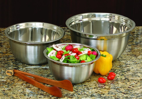 COOKPRO 721 3PC STAINLESS STEEL MIXING BOWL SET WITH SATIN