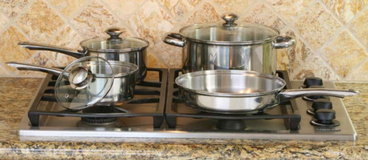 COOKPRO 500 STAINLESS STEEL COOKWARE SET 7PC WITH