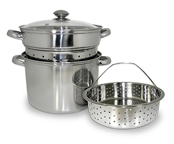 COOKPRO 559 STAINLESS STEEL 20QT MULTIFUNCTION PASTA COOKER