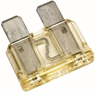 COOPER BUSSMANN� AUTOMOTIVE BLADE TYPE FUSE, CLEAR, 32 VOLTS, 25 AMPS, PACK OF 5