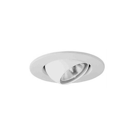 Cooper Lighting Halco APERT Light Trim With 4 in White Eyeball Baffle, R16, PAR16 Incandescent
