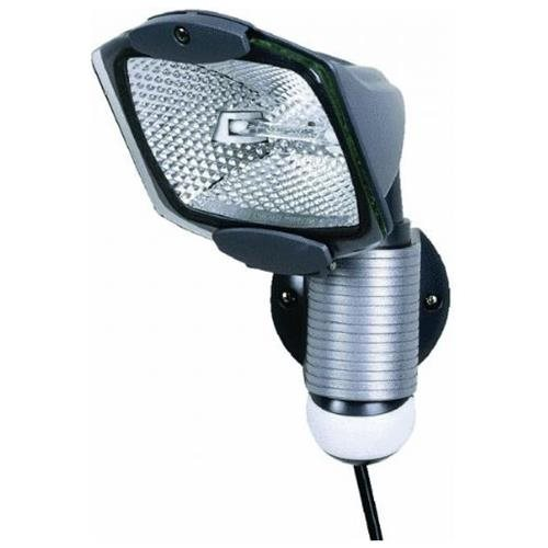 Cooper MS100PG Portable Motion Sensor Floodlight, T3 Quartz Halogen, 100 W