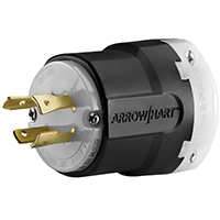 Cooper Wiring AHL1520P Ultra Grip Plug and Connector, 250 V, 20 A, 3 P, 4 W, Black/White