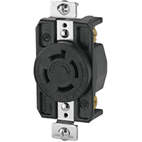 Cooper Wiring AHL1620R Single Receptacle, 480 VAC, 20 A, 3 Pole, 4 Wire, Black