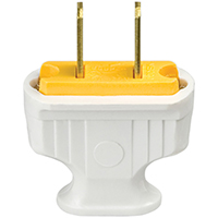 WHITE FLAT HANDLE 2WIRE PLUG