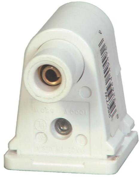 LAMPHOLDER FLUOR SLM PLUNG WHT