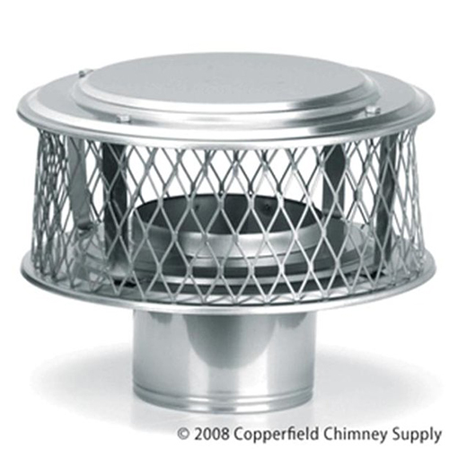 "9"" HomeSaver 5/8"" Mesh Stainless Steel Air-Cooled Guardian Cap"