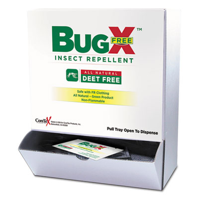 Insect Repellent Towelettes Box, DEET Free, 50/Box