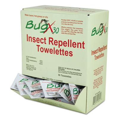 Insect Repellent Towelettes Box, DEET, 50/Box