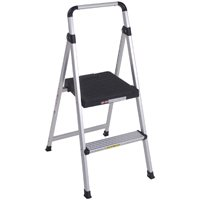 Lite Solutions 11628ABK4 2-Step Folding Step Stool, 225 lb