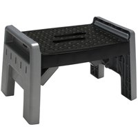 Cosco 11-905-PBL4 1-Step Folding Step Stool, 3.38 in H x 20.13 in W x 11-1/4 in D, Plastic, Black/Platinum