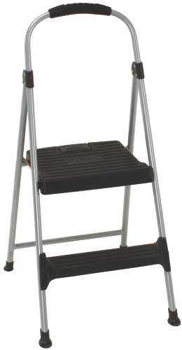 COSCO� SIGNATURE SERIES TWO STEP STEEL STEP STOOL WITH PLASTIC STEPS