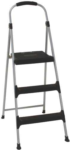 COSCO� SIGNATURE SERIES THREE STEP STEEL STEP STOOL WITH PLASTIC STEPS