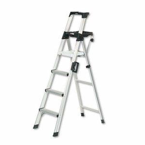 Signature Series Aluminum Folding Step Ladder w/Leg Lock & Handle, 6 ft, 4-Step