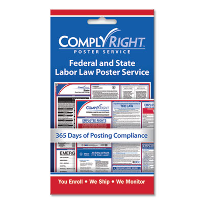 "Labor Law Poster Service, ""State/Federal Labor Law"", 4w x 7h"