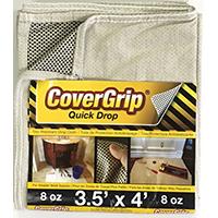 DROP CLOTH NO-SLIP 3.5X4FT 8OZ
