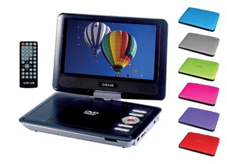 Craig CTFT713 Portable DVD Player 9 Inch Swivel Screen