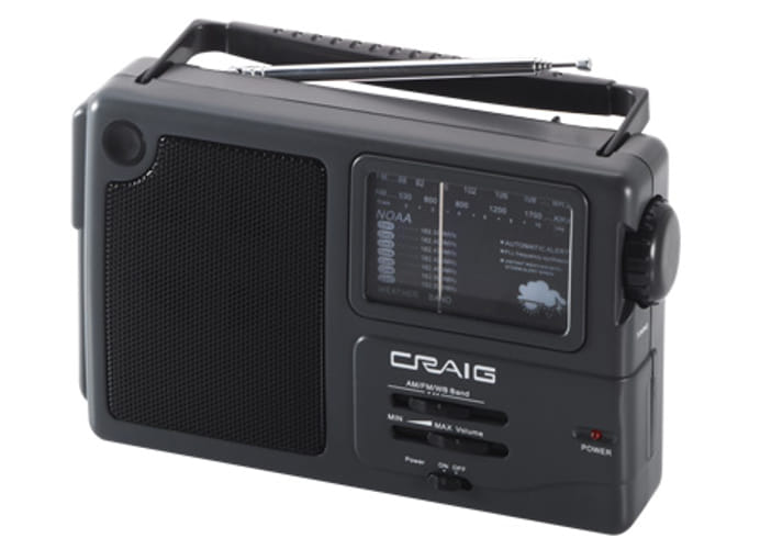 CRAIG CR4181W AM FM RADIO PORTABLE WITH WEATHER BAND LISTEN
