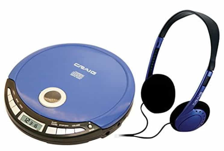 CRAIG CD2808BL BLUE PERSONAL CD PLAYER WITH EARBUDS