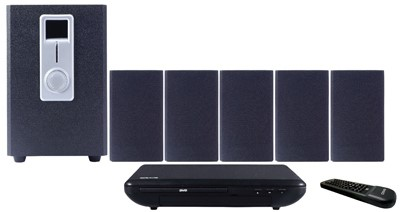 CRAIG CHT755 5.1 CHANNEL HOME THEATER SYSTEM WITH DVD PLAYER