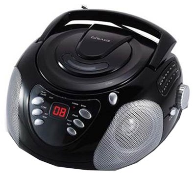 CRAIG CD6918 BLACK CD BOOMBOX WITH AM FM RADIO LED DISPLAY